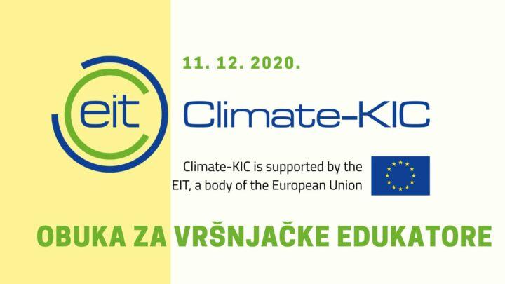 Climate-KIC : Obuka za vršnjačke edukatore